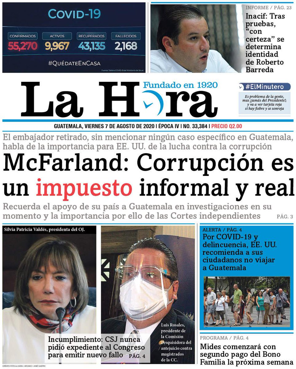 test Twitter Media - #PORTADADEHOY McFarland: Corrupción es un impuesto informal y real 👉🏽[https://t.co/QDU2lZ2PzK] https://t.co/sv3xtp3WkN