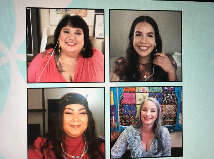 LOOK 👏🏽 AT 👏🏽THESE 👏🏽MATRIARCHS So honoured to be on @TheSocialCTV with strong, resilient, powerful, courageous, warrior Indigenous women from across Canada. #proud ✊🏽✊🏿✊🏾 @gagiibaaikwe @shaylaoh @TheCandyShow @anna_r_b_lambe , @ArielleTwist , @dainjahrous @Melanie_Hadley