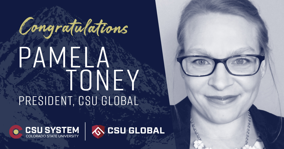 Delighted to celebrate the next president of @CSUGlobal, Pamela Toney! Also want to honor the extraordinary leadership of @DrBeckyT, who will transition from president to Chief Educational Innovation Officer of @CSUSystem. Congratulations to two strong and committed CSU leaders! https://t.co/Hcf0q0DvN7