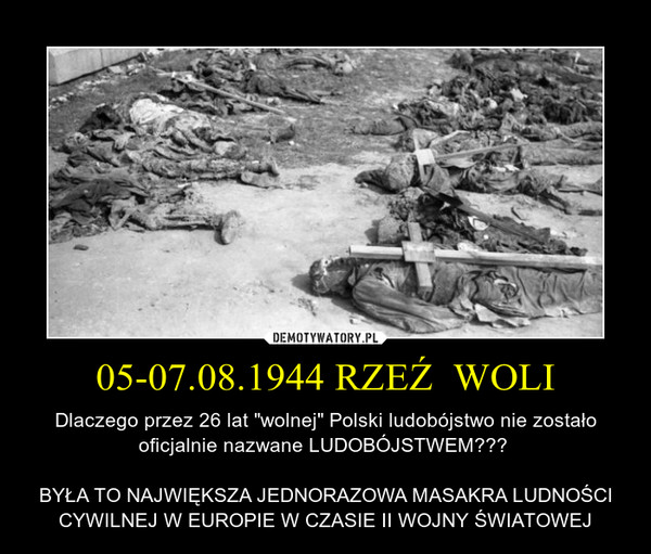 7 sierp 1944 – Powstanie Warszawskie: zakończyła sięrzeź Woli(5-7 sierpnia); rozpoczął się zmasowany atak niemieckiej artylerii naStare Miasto https://t.co/mwjb0YCQ44