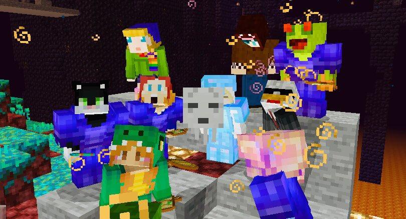 ピグリン要塞の攻略してきました♪本当に、みんなで行ったら、あっという間でしたね!ピグリンに合わずに終わったな…wお疲れ様でした♪#マイクラ#Minecraft#マインクラフト#ドズ主ワールド