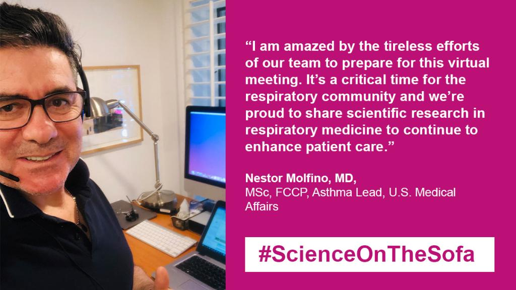 While #ATS2020 may look different this year, respiratory expert, Dr. Nestor Molfino, reminds us that both our pursuit of new #research and our commitment to patients remains the same. Check out what we are doing this year: 👉 https://t.co/eUHlObEp7g #ScienceOnTheSofa https://t.co/38ee3QuuKg