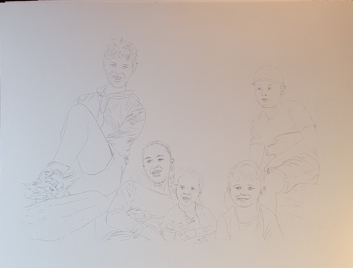 #drawing for new #watercolor #painting #familypicture #familytime #portraiture @ClairefontaineT 48x36cm #watercolour #watercolorpainting #watercolors #watercolorart #portraitpainting #art #arte #artshare #arts #artwork #artistsontwitter #Twitart #bigartboost #aquarel #aquarellepic.twitter.com/70dG7di9zY