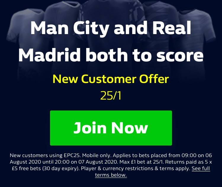 Get a massive 25/1 for Man City v Real Madrid both team to score  #MCFC #RealMadrid #ChampionsLeague 🚨 HUGE ENHANCED ODDS 🚨  Claim via the link below on your mobile only 👇 📲 https://t.co/Rv2NM0jlH4 18+ | New Customer Offer | T&Cs apply | BeGambleAware https://t.co/Fm5XjivMAI