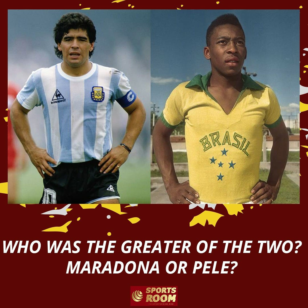 Who do you think was the best?  #DiegoMaradona #Pele  #Football #Legends #Brazil #Argentinapic.twitter.com/mMOrHK0pBz