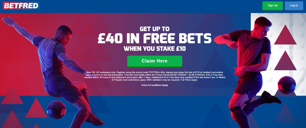 🚨FREE BETS 🚨  Bet £10 and get up to £40 in Free Bets when you join Betfred 💷 #SPFL #HorseRacing #ChampionsLeague  Claim via the link below Down 👇 https://t.co/BZ4COuYw9R  18+ | T&C's Apply | New Customer Offer | BeGambleAware https://t.co/hP62nlV283