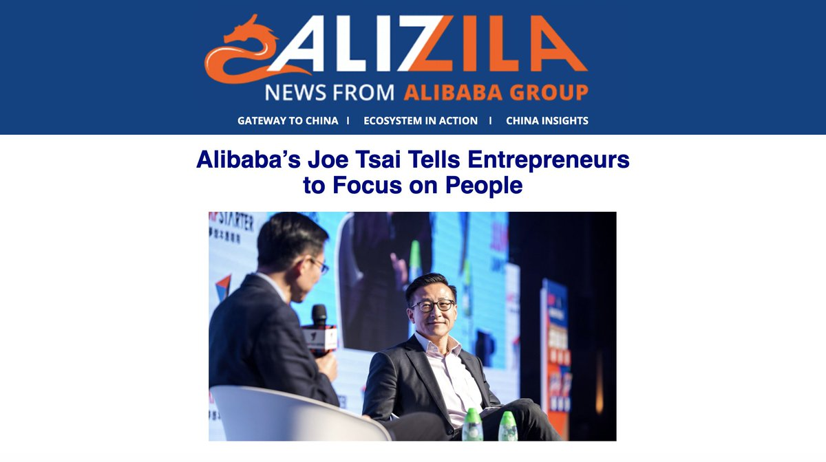 This week: @joetsai1999's advice for entrepreneurs, how a Beijing artisan cheesemaker finds growth on Taobao, and more Alibaba news. Subscribe here: https://t.co/5DHaBFms33 https://t.co/H0a4mSaePU