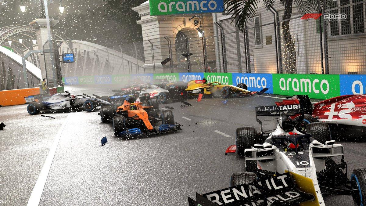 Bah alors, on ne sait plus se tenir 😂 #Formula1 #F12020game https://t.co/NDlV75hRhr