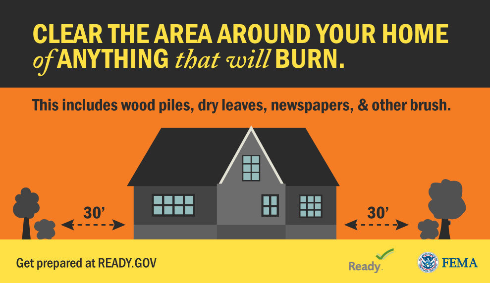 Wildfires happen with little warning and spread rapidly. Make sure you are prepared: 🏡 Remove all flammable debris within 30 ft. of your home 🔨 Follow local safety building codes 🚒 Connect with your local fire department More: Ready.gov/wildfires