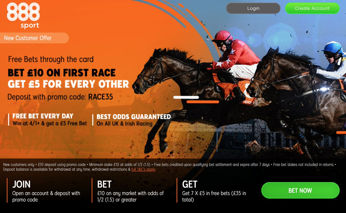 WHO WANTS £35 IN FREE BETS FOR ASCOT TOMMOROW 💰  👉🏼 Join 888Sport 👉🏼 Bet £10 on the 12:40 👉🏼 Get a £5 FREE BET for every other race on the card!  CLAIM HERE 👇🏼 https://t.co/mEhpvdl0oG  New Customer Offer T&C's Apply 18+ BeGambleAware #Ascot #HorseRacing https://t.co/TgYoEC8Y4I