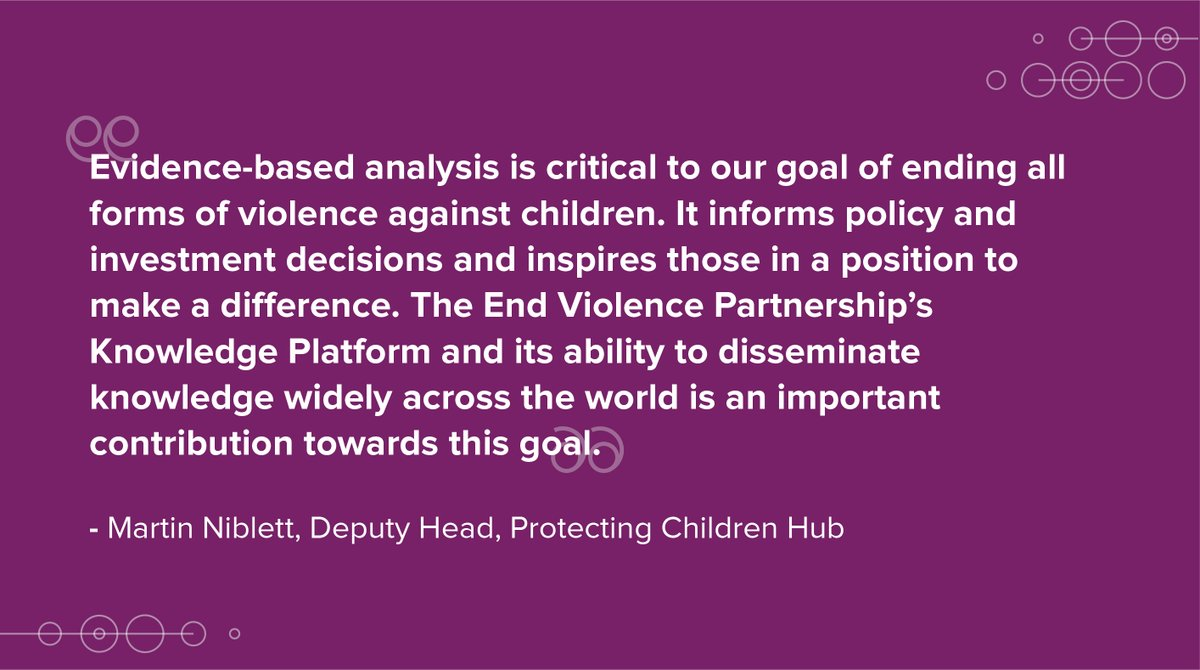 A new Knowledge Platform to #ENDviolence against children is launched!   We source the best solutions & data on preventing violence against children from our community of 450 partners.   Learn more: https://t.co/qFPbRxk0eE https://t.co/cXmiWZ4rNx