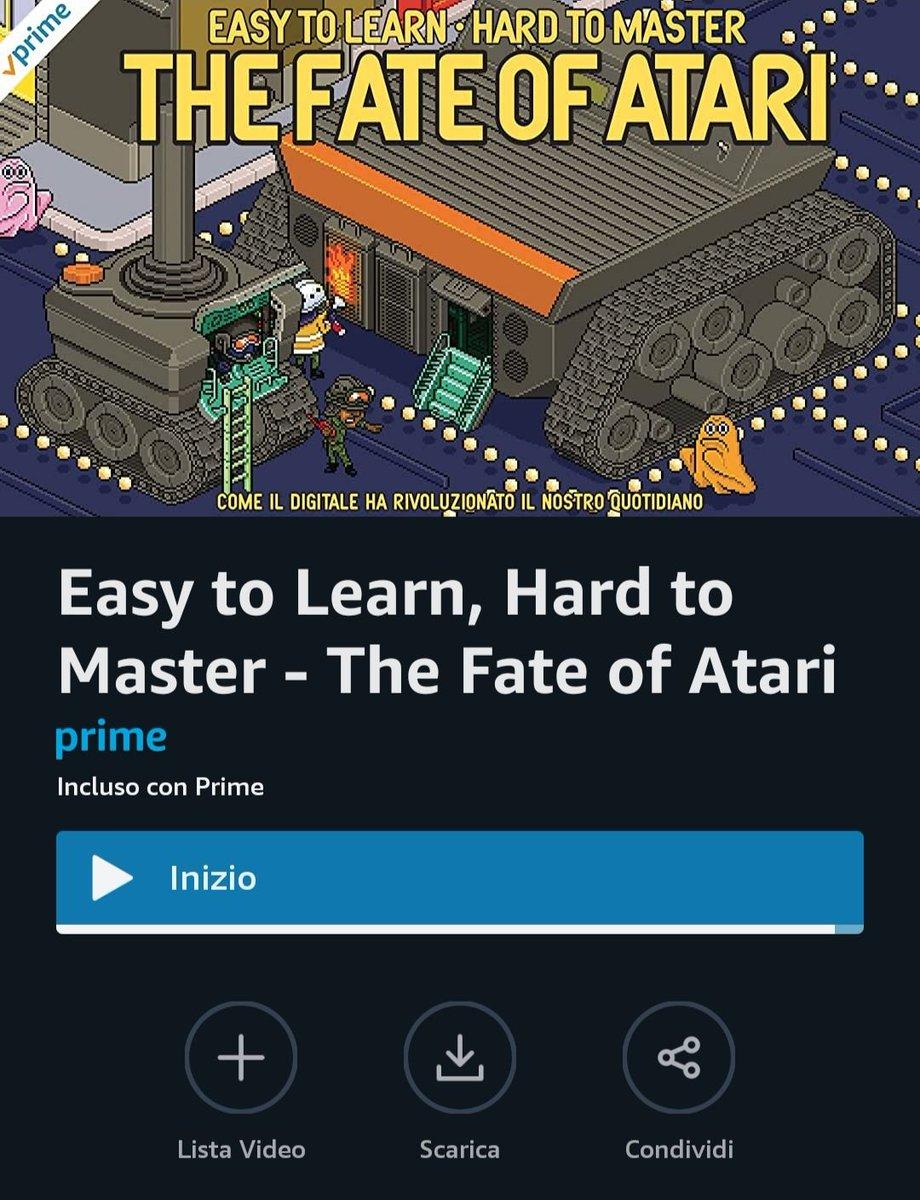 Appena finito di guardare su #amazonprimevideo  The fate of Atari  La nascita dei videogiochi  Audio italiano #nerdpic.twitter.com/9dum6ixihU