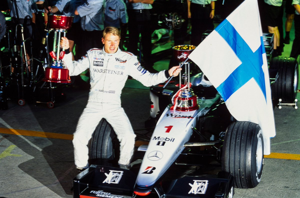The 90s ❤️ Life was all about making Friends and it was no different for us! 😉  Returning to F1, @MercedesBenz powered @McLarenF1 and @F1MikaHakkinen to championship doubles in 1998 and' 99 🏆🏆🏆🏆  And we first met a 13-year old kid who would change @F1 forever... #F170 https://t.co/w2oBzJAUCN