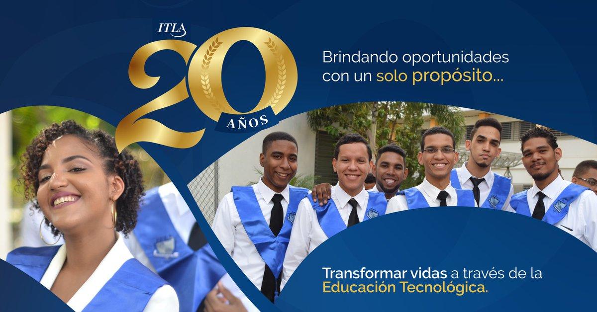 Se acerca nuestro aniversario. 20 años cumpliendo no solo con nuestra misión de ser una casa de estudios, sino ser ese lugar donde se materializan los sueños de miles de jóvenes dominicanos.  #ITLA20Años #ITLA20Aniversario #TransformandoVidas pic.twitter.com/vDwAhl1Xvu