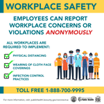 Image for the Tweet beginning: Employees can report workplace concerns