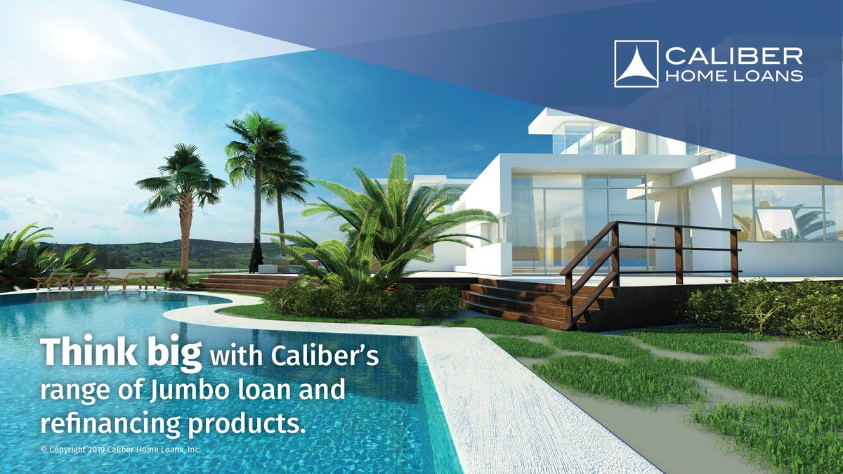 Luxurious property, personalized experience. Contact your local Caliber Loan Consultant to get started on your Jumbo Loan! pic.twitter.com/4afI9HSE1S