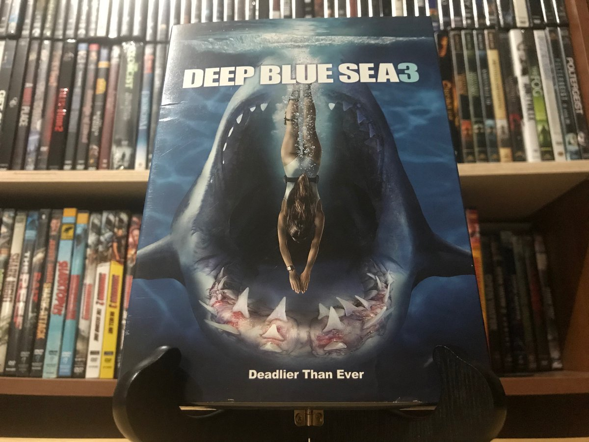 Today's find earlier today: Deep Blue Sea 3. Gettin ready for Shark Week, comin up! #DeepBlueSea3 #SharkMovie #SharkWeek #DVD #DVDCollector #MovieCollector #CinemaPukepic.twitter.com/rDtlbeZ7Vh