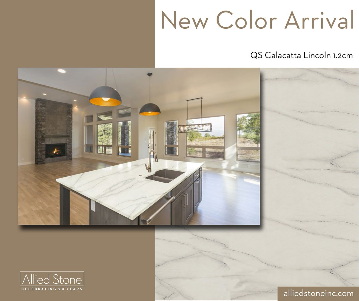 Calacatta Lincoln, is an exquisite 1.2 cm porcelain Italian stone. Its cream color and dark-lined, thin veins are exquisite for a luxurious kitchen countertop, backsplash, and bathroom vanity. pic.twitter.com/qQMo0TWDl4
