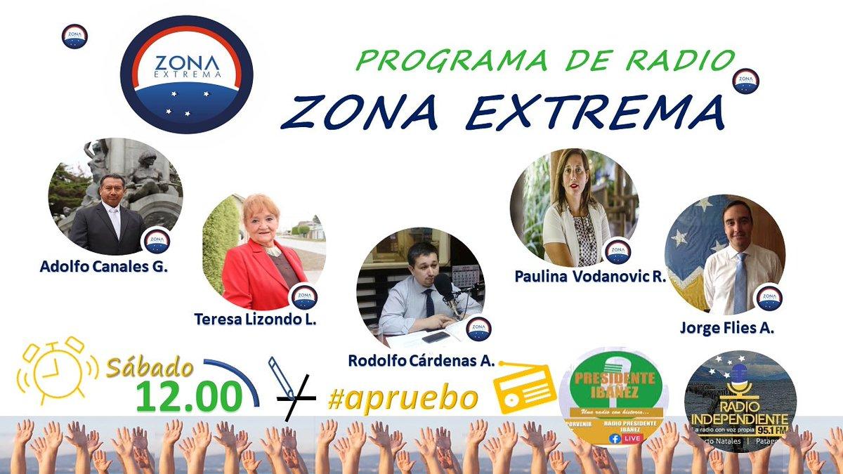 Estamos conectados en #ZonaExtrema desde las 12.00 hrs en @pdteibanez e independiente de #PuertoNatales para conversar sobre el desarrollo de #magallanes  #Porvenir #TierradelFuego #PuertoNatales #CabodeHornos #puq #PuntaArenas   Mantén las medidas de autocuidado #COVID19 pic.twitter.com/Nx4lvckkFw