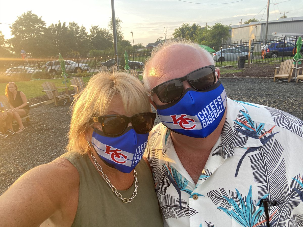 Mike and I supporting the Chiefs. Best mask ever @ChiefsBBallClub