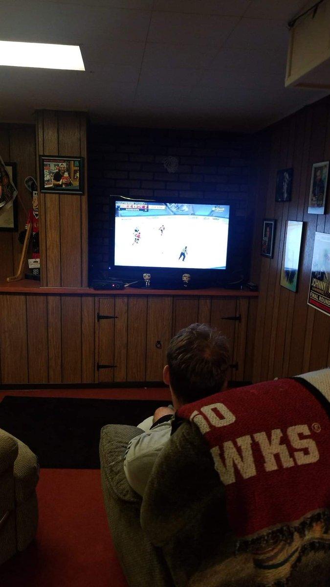 My #Blackhawks fan cave #AuthenticFan @NBCSBlackhawks @NBCSChicago https://t.co/CCXTNuz9LQ
