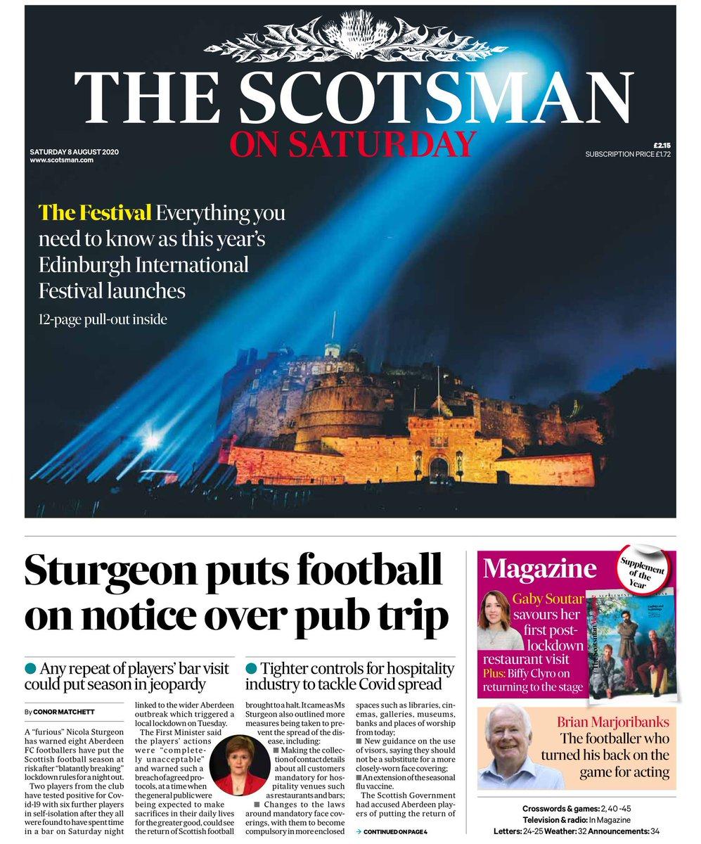 """Helena Wilkinson on Twitter: """"The Scotsman on Saturday: Sturgeon ..."""