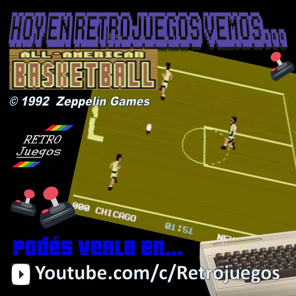 RETROJuegos Clásico - All American Basketball 1992 Zeppelin Games - Commodore 64 https://youtu.be/drn_uaNfws0 #homebrew #gaming #retrogaming #retrogamer #8Bit #80s #oldies #retro #videogame #videojuego #homecomputers #play #game #retrogame #retrocomputacion #retrogamers #retrovintagepic.twitter.com/kGtefpjSxH