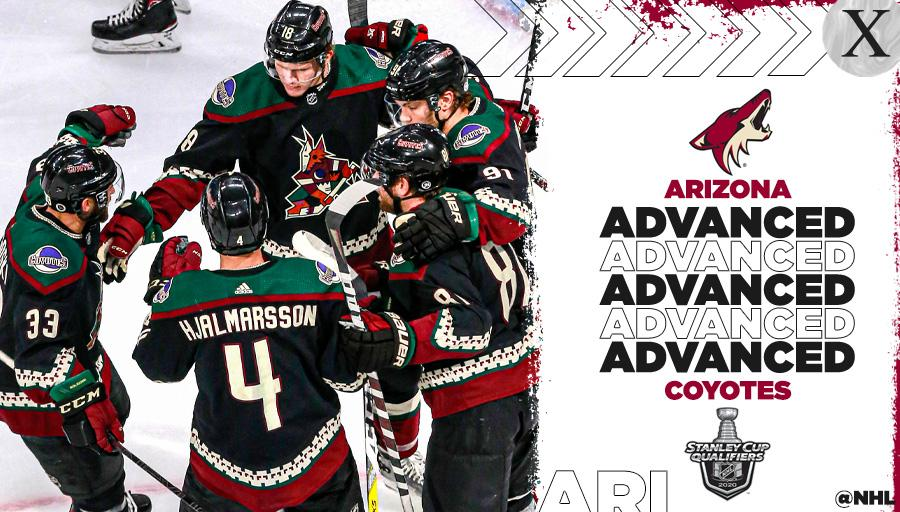 HOWL YEAH!  The @ArizonaCoyotes are heading to the First Round. 🐺 #StanleyCup https://t.co/L4bpPEjhVk
