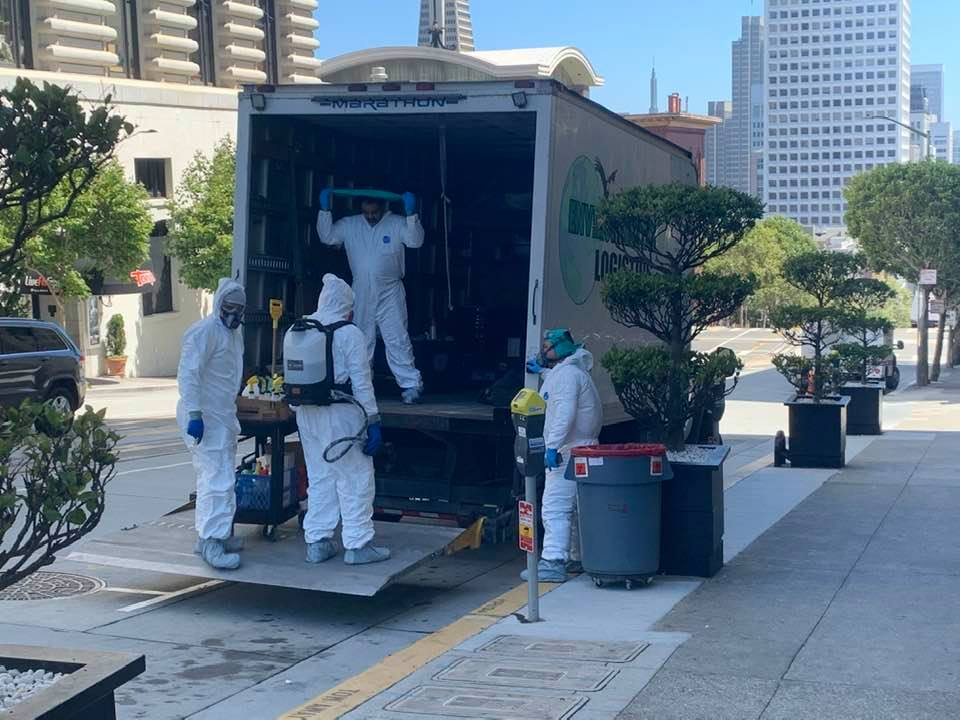 Hazmat crew cleans up homeless mess at luxury San Fran hotel