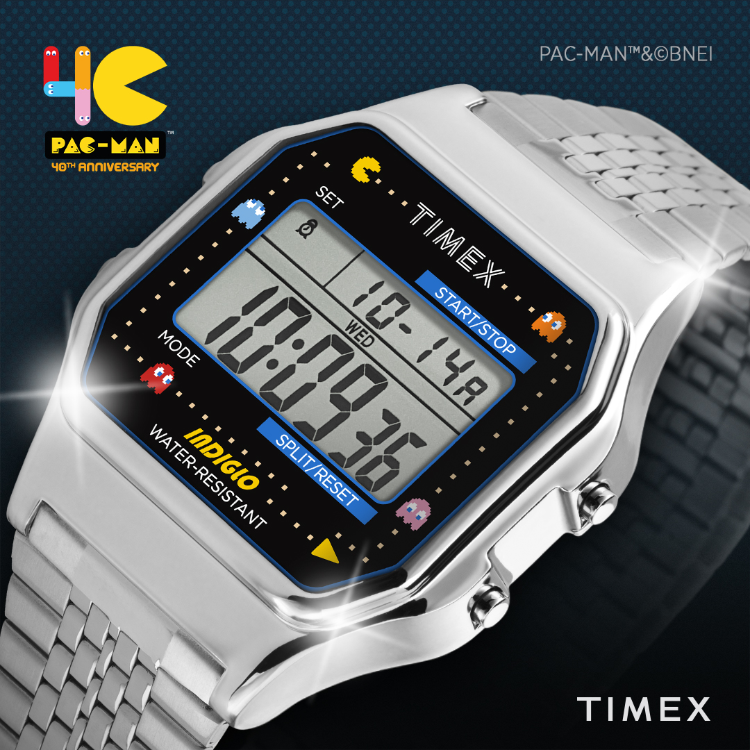 We know what you're wondering. Yes, this T80 comes with the iconic PAC-MAN melody.   Available on the Timex India website, shop now: https://bit.ly/3ic5XGF  : Timex T80 x PAC-MAN™  #Timex #TimexIndia #PacMan #PacMan40th #DigitalWatch #80s #SpecialEditionpic.twitter.com/oMCXUtrHLh