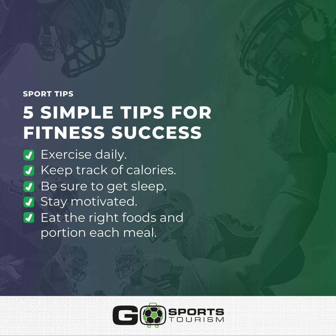 If you want to start your journey to having a better body to feel great, here are some tips: #sportstourism #amateursports #recreationalsports #sportsvenues #gosportstourism #golf #flagfootball #ultimate #events #tournament #stretching #recovery #muscle #sportstournamentspic.twitter.com/rS0Aiaq3fO