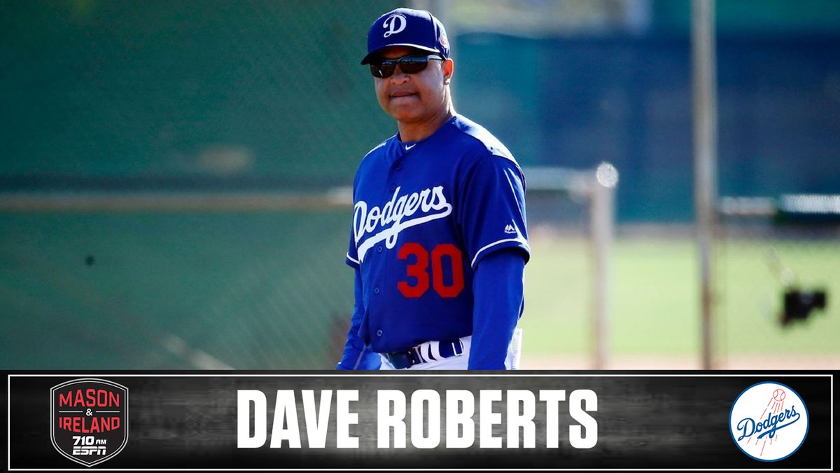 NEXT: #Dodgers skipper Dave Roberts chats with @VeniceMase & @LAIreland on 710 AM ESPN bit.ly/ListenLA
