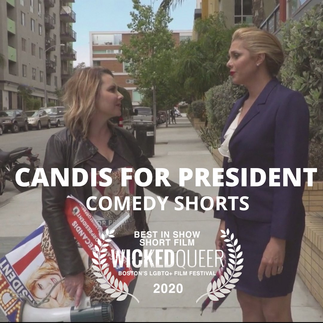 We are over the moon to announce @CandisforPres won Best Comedy Short in Boston's Iconic LGBTQIA+ film festival @wickedqueer #wickedqueer #candisforpresident #transvisibility #lgbtqia #femalefilmmakerfriday #filmfestival #womenincomedy #womeninfilm @ametzinLA @candiscaynepic.twitter.com/HcQFgpKe7F