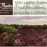 Image for the Tweet beginning: USDA Extends Deadlines, Defers Interest