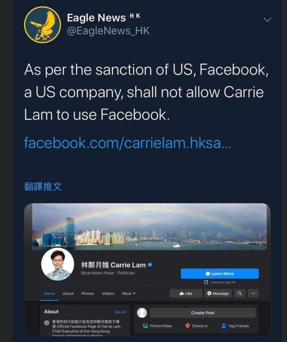 根據美國制裁,任何美資公司,例如facebook, Google, netflix twitter等都不得向被制裁人士提供服務。