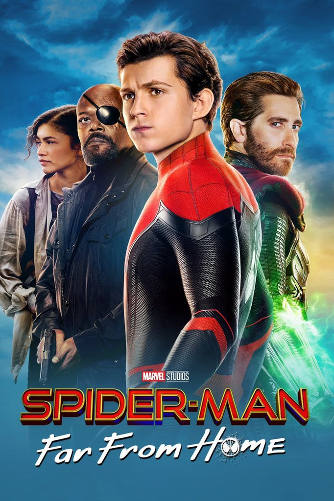 #SpidermanFarFromHome #MovieReview: 8.5/10  Pros:  •Tom Holland crushes it  •Peter/MJ modernized  •Still very funny  •Mysterio/Jake Gyllenhaal  •Solid story and continuation from Endgame  •Satisfying emotional moments  Cons:  •Night monkey suit  •Annoying characters pic.twitter.com/Oq3LNeQHvL