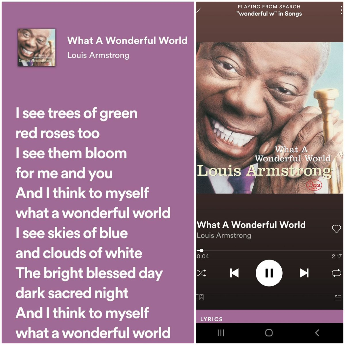 #洋楽写経大好きなサッチモの曲。もうすぐ終戦記念日がやってきます。戦争や紛争のない世の中が1日も早く来ますように🕊️🍀🙏✨🎶What A Wonderful World /Louis Armstrongタグ使わせて頂きました!有り難うございます🌷