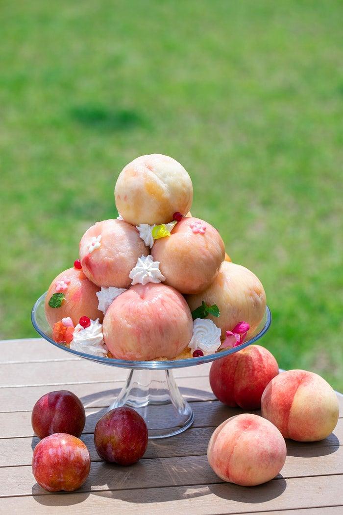 桃まるごと10個使用!贅沢すぎる巨大桃パフェが山梨に限定登場#スイーツ #グルメ▼写真・記事詳細はこちら