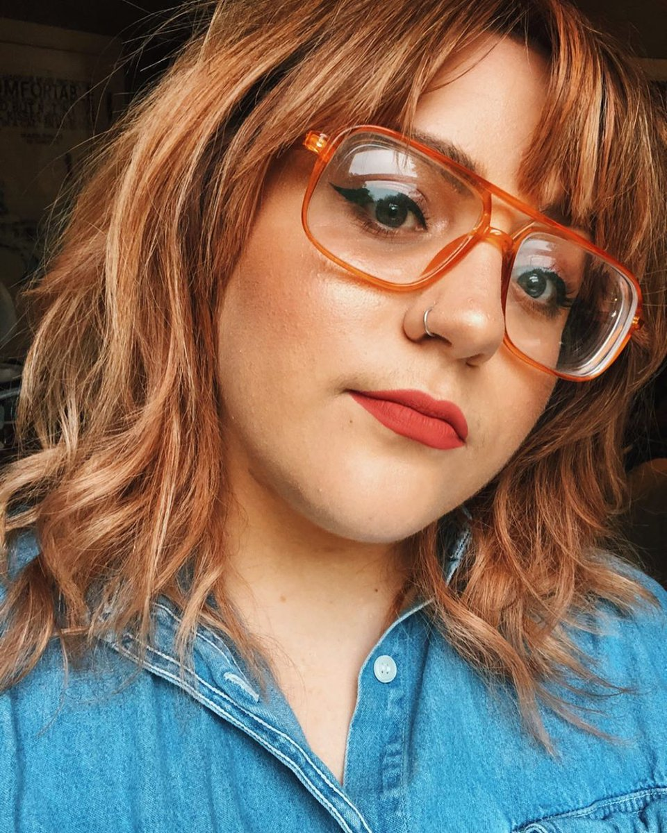 When your glasses match your hair! 🧡 We are loving @_bedsheetghosts edgy #summer look. Shop Now: bit.ly/OrangeAviatorG… #WomensSunglasses #SummerFashion #StyleInspo