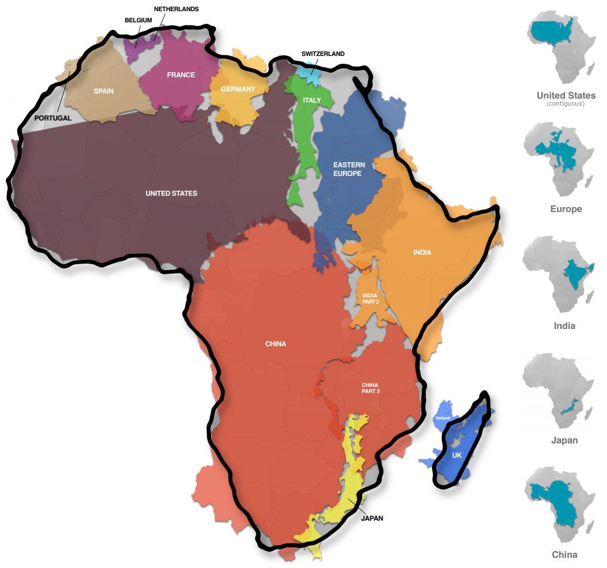 Africa is massive