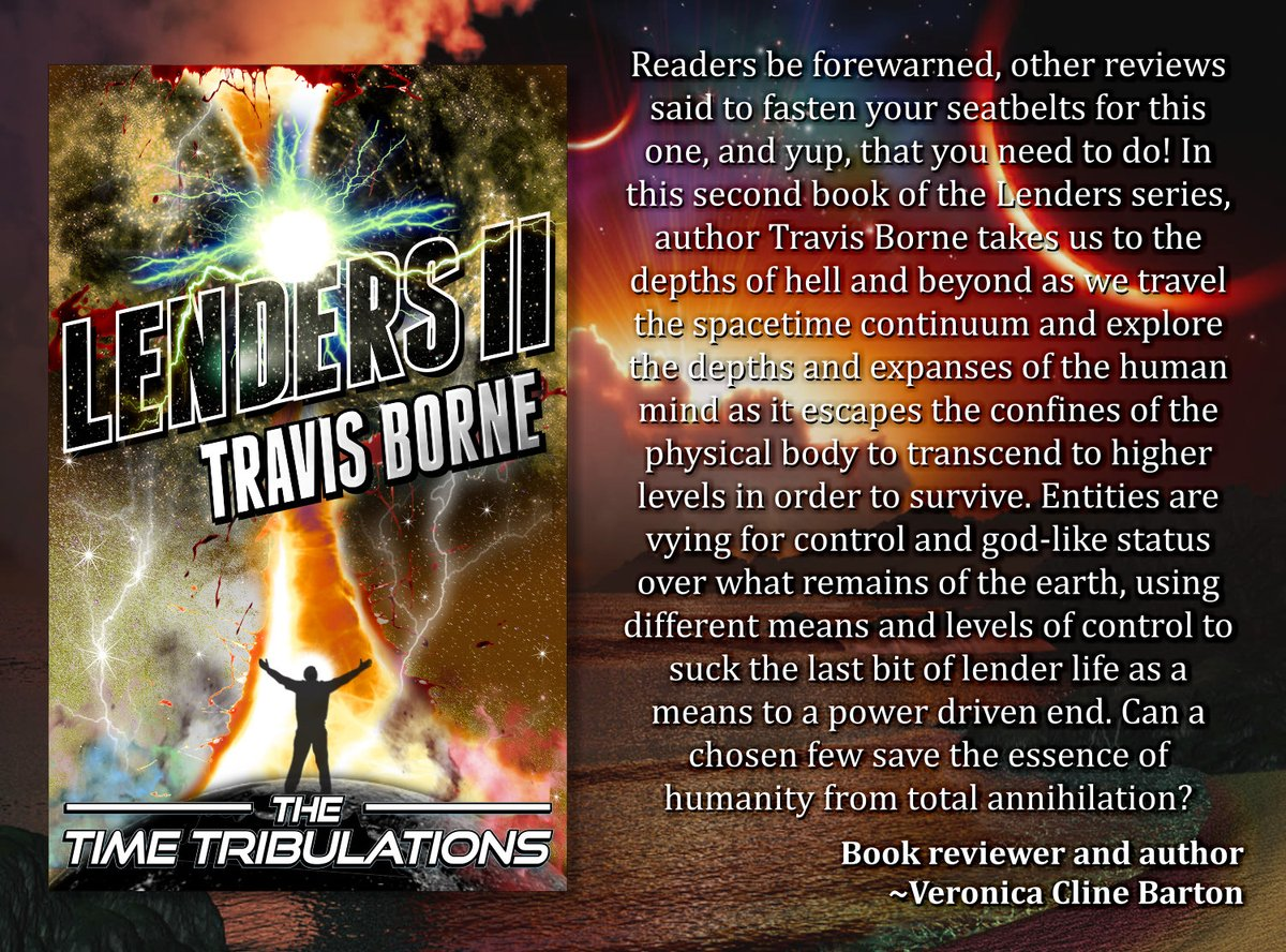 "Five!  The Lenders Saga by @ Travis_Borne.  ""If you like movies like Inception, or The Matrix, you'll love this book.""  SciFi DroneAttack AI Horror DystopianFuture TimeTravel VirtualReality Apocalypse ExtraDimensional MultiGenre ASMSG #IAN1 #Kindle https://www.amazon.com/Travis-Borne/e/B06XWZ5HK2/ref=dp_byline_cont_ebooks_1 …pic.twitter.com/5lLXjI9B8H"
