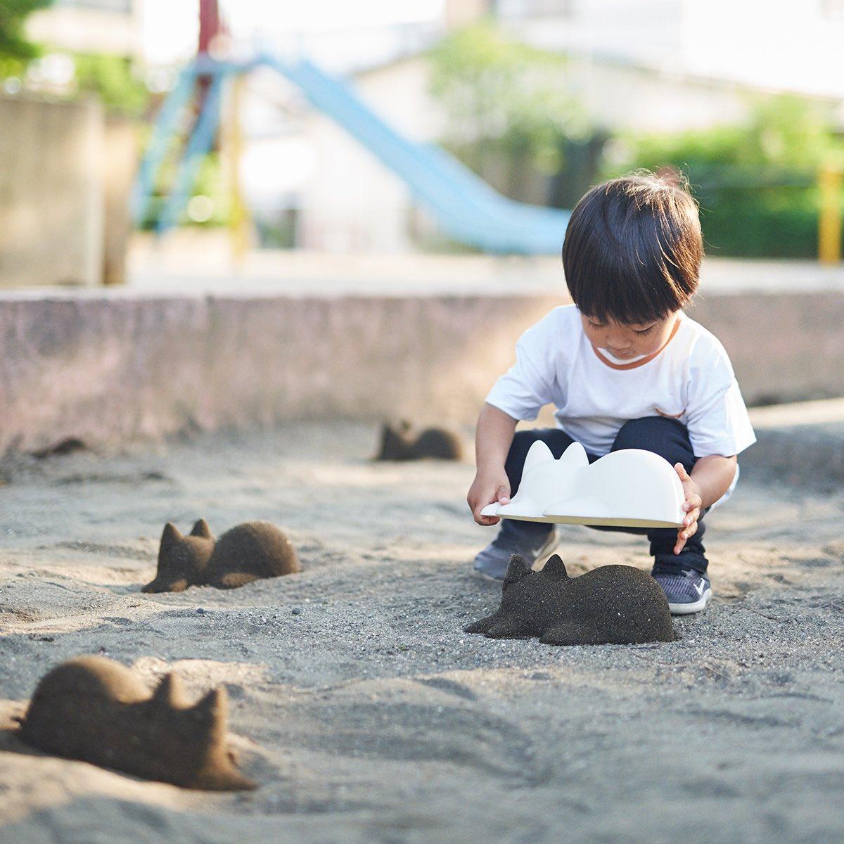 作って、見て、癒される。ネコのシルエットを砂で再現できるプロダクト「Neko Cup」#世界猫の日