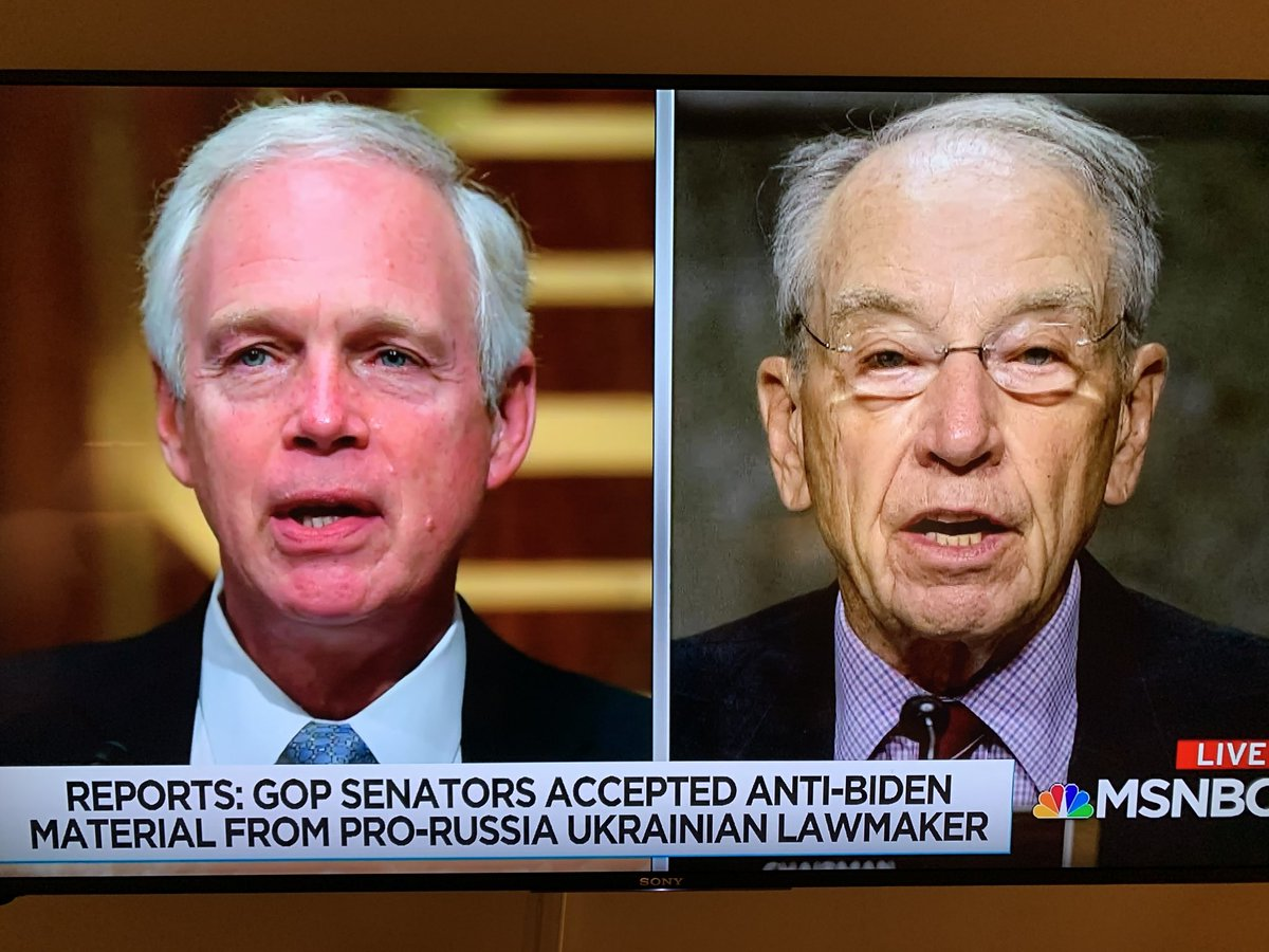 """U.S. intelligence today specifically called out """"pro-Russia Ukrainian parliamentarian Andriy Derkach"""" for """"spreading"""" Russian disinformation. Not mentioned by Evanina - Derkach has been """"spreading"""" it to Senator Ron Johnson, Senator Chuck Grassley and Rudy Giuliani. https://t.co/ui97T1QBo8"""