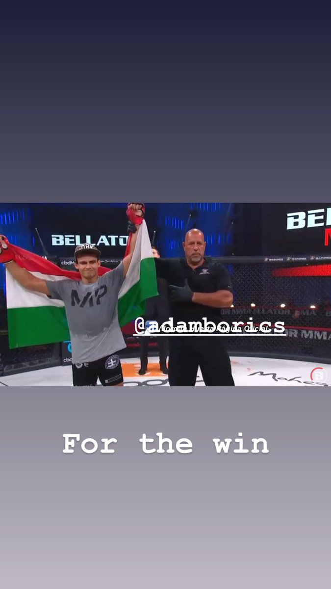 . @AdamBorics with the win up a weight class 🔥🔥🔥 @MmaSanford https://t.co/zD7U5xTAZ3