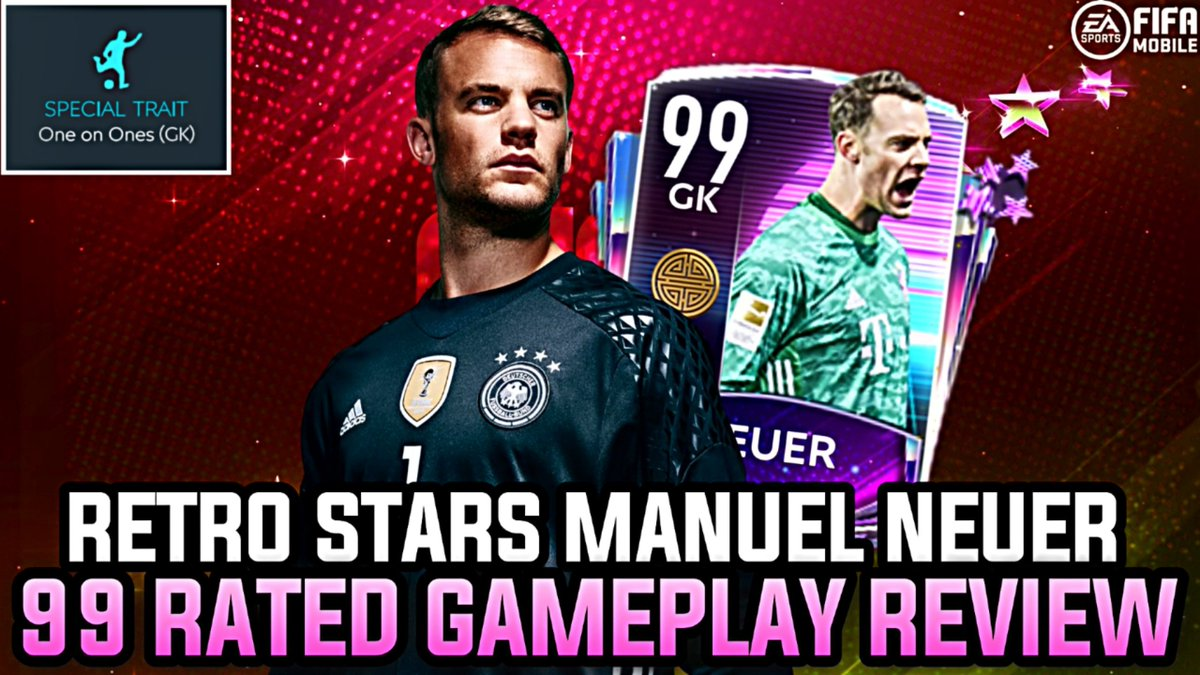 RETRO STARS NEUER GAMEPLAY REVIEW! IS HE THE NEW BEST GK?! | NEW GK TRAIT | FIFA MOBILE 20  Link: https://t.co/eII77K7ZH3   Likes and RTs appreciated ❤ 🔃 https://t.co/uCjbFjwUBJ