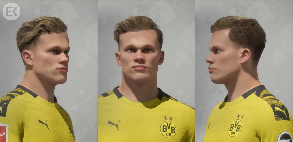Facemaker Emrekaya On Twitter Erling Braut Haaland Borussia Dortmund Fifa20 Fifa21 With Rdbm Or Live Editor Assign Real Face Id 190558 For Haaland Download Https T Co Lujnq9irif Https T Co 3khmsfjwxp