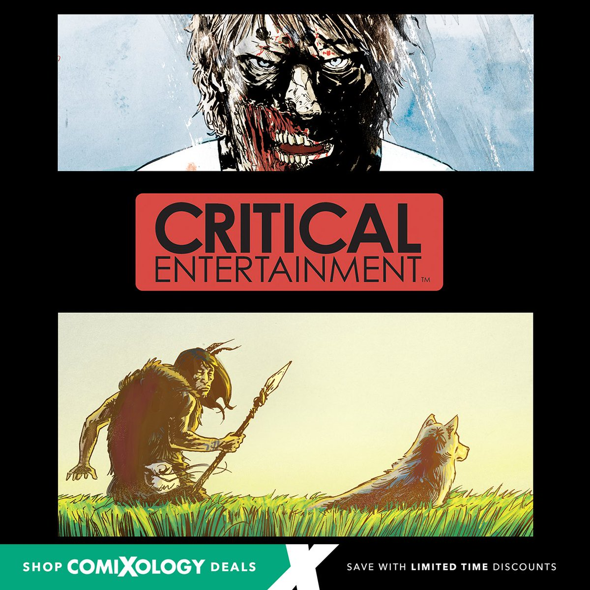 """50% Off Digital Comic Book Sale! @comixology is having their Small Press Mega Sale from August 7th to September 8! Read @CriticalEntLA #comicbooks by going to http://www.comixology.com and searching """"Critical Entertainment"""" or any of our titles.   #comicbook #sale #digitalcomics pic.twitter.com/sWV3N7pbsl"""