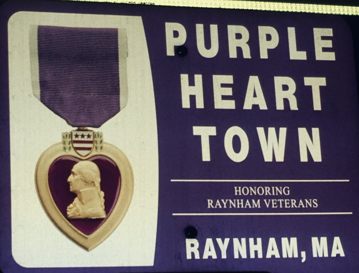 It might not be much but it's our Town of Raynham, MA #PurpleHeart #community  #PurpleHeartDayMA #SFCJaredMontiMOH #CplBrianOliveira #OEF #OIF #KIA #FTWGA   @WMarine87 @MassDVS @RaynhamFire @Raynhampd https://t.co/kv8XeTOWut