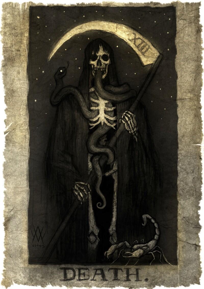 Death Card #Art by Anton Vitus Westerlund