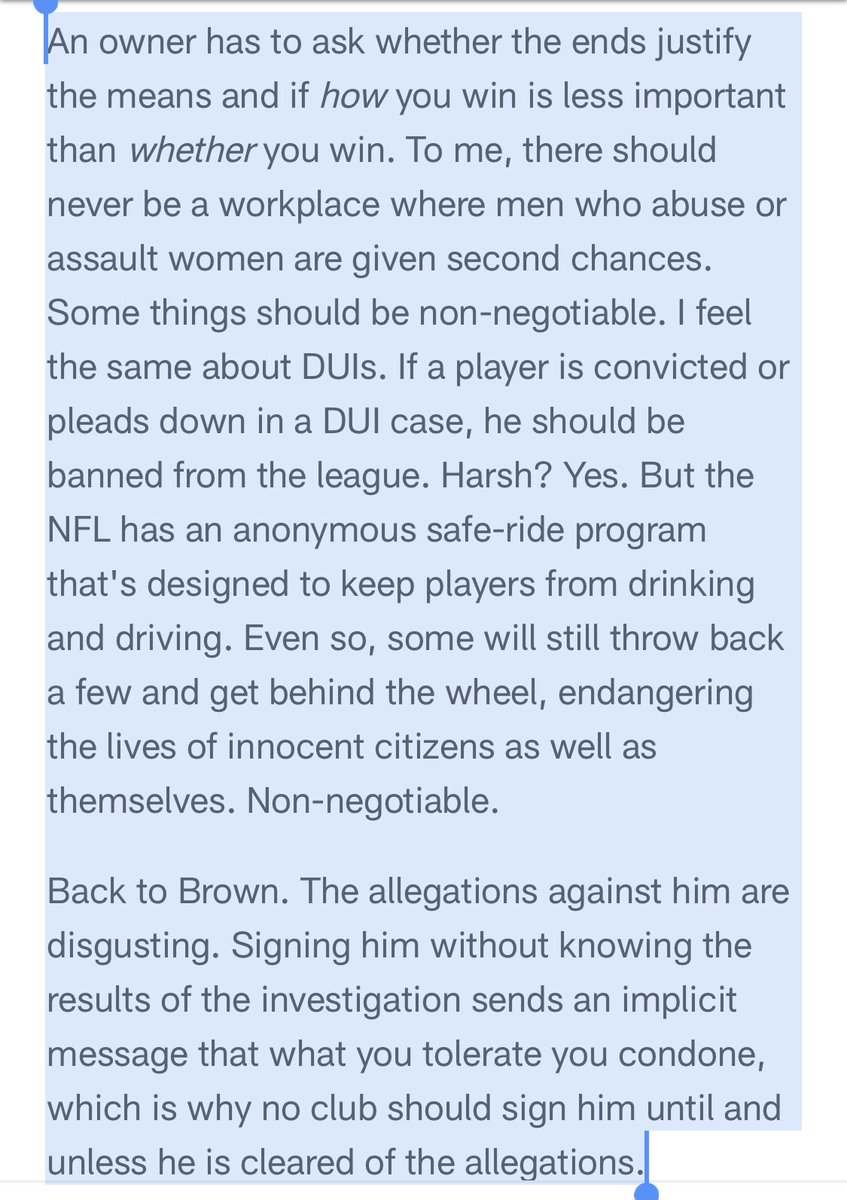 Releasing Derrius Guice should be just the first step. The second should be a permanent ban. Wrote the same last week about Antonio Brown if he isn't cleared in his sexual assault investigation. https://t.co/qICfN7xx1D